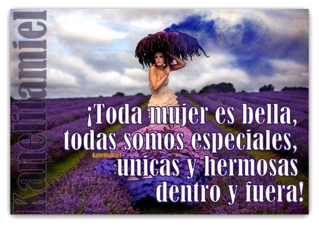 Toda mujer es bella y especial.