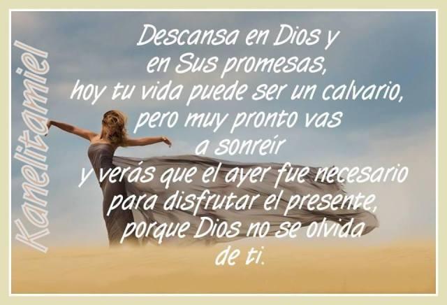 Descansa en Dios y en sus promesas