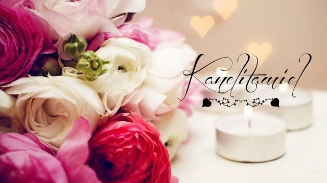 flowers-bouquet-candles-heart
